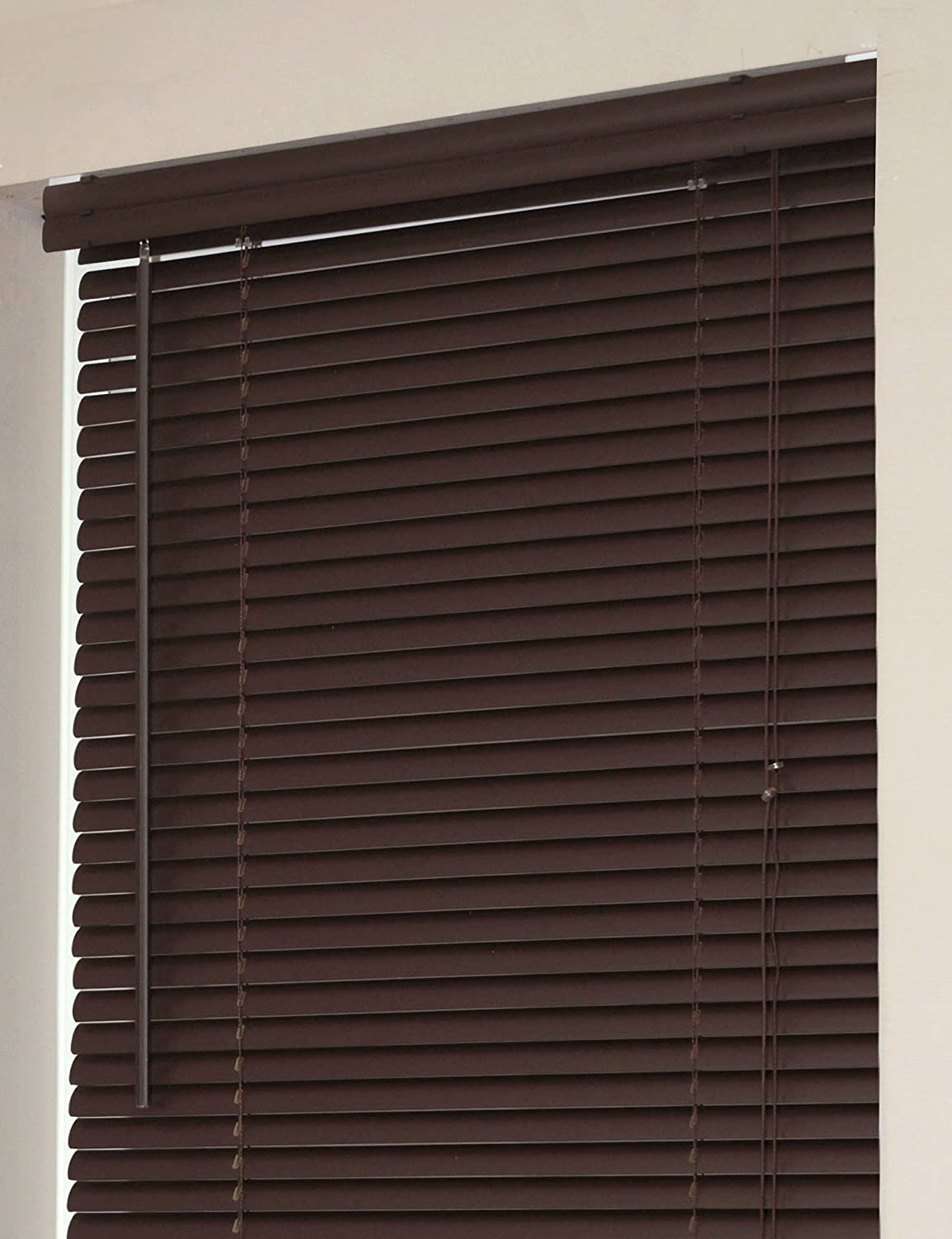 Achim Home Furnishings Morning Star 1-Inch Mini Blinds, 28 by 64-Inch, Chocolate VY2864CH06