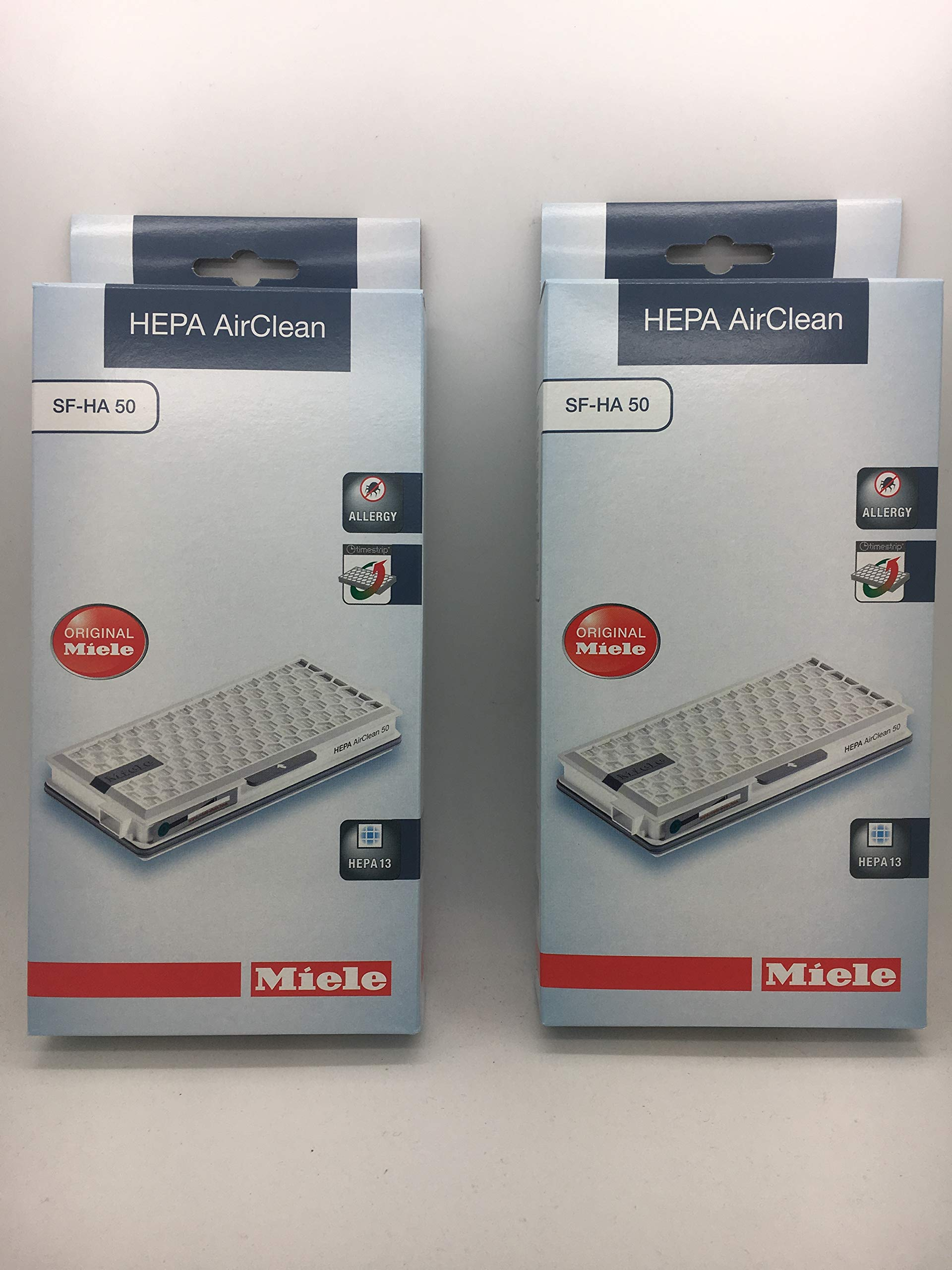 Miele SF-HA 50 Active HEPA filter 2pk for Models S4, S5, S6, & S8 by Miele