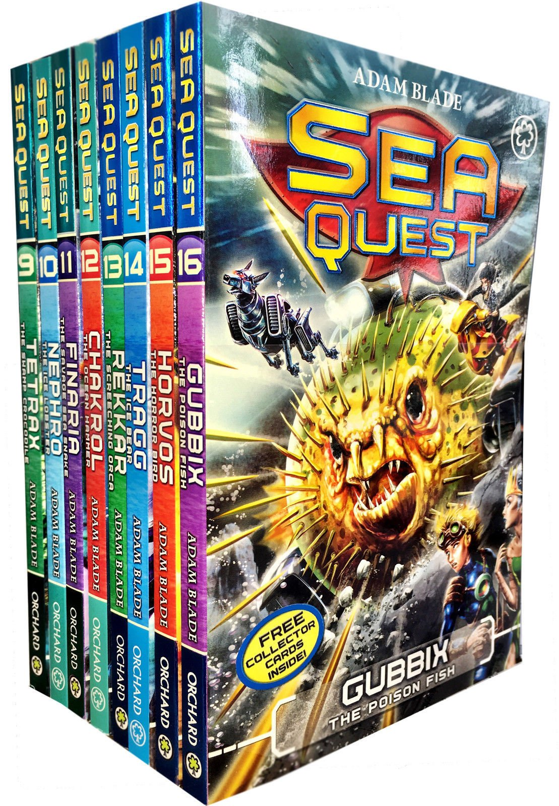Download Sea Quest Series 3 and 4 Collection Adam Blade 8 Books Set (Tetrax, Nephro, Finaria the Savage, Chakrol, Rekkar the Screeching Orca, Tragg the Ice Bear, Horvos the Horror Bird, Gubbix the Poison Fish) pdf epub