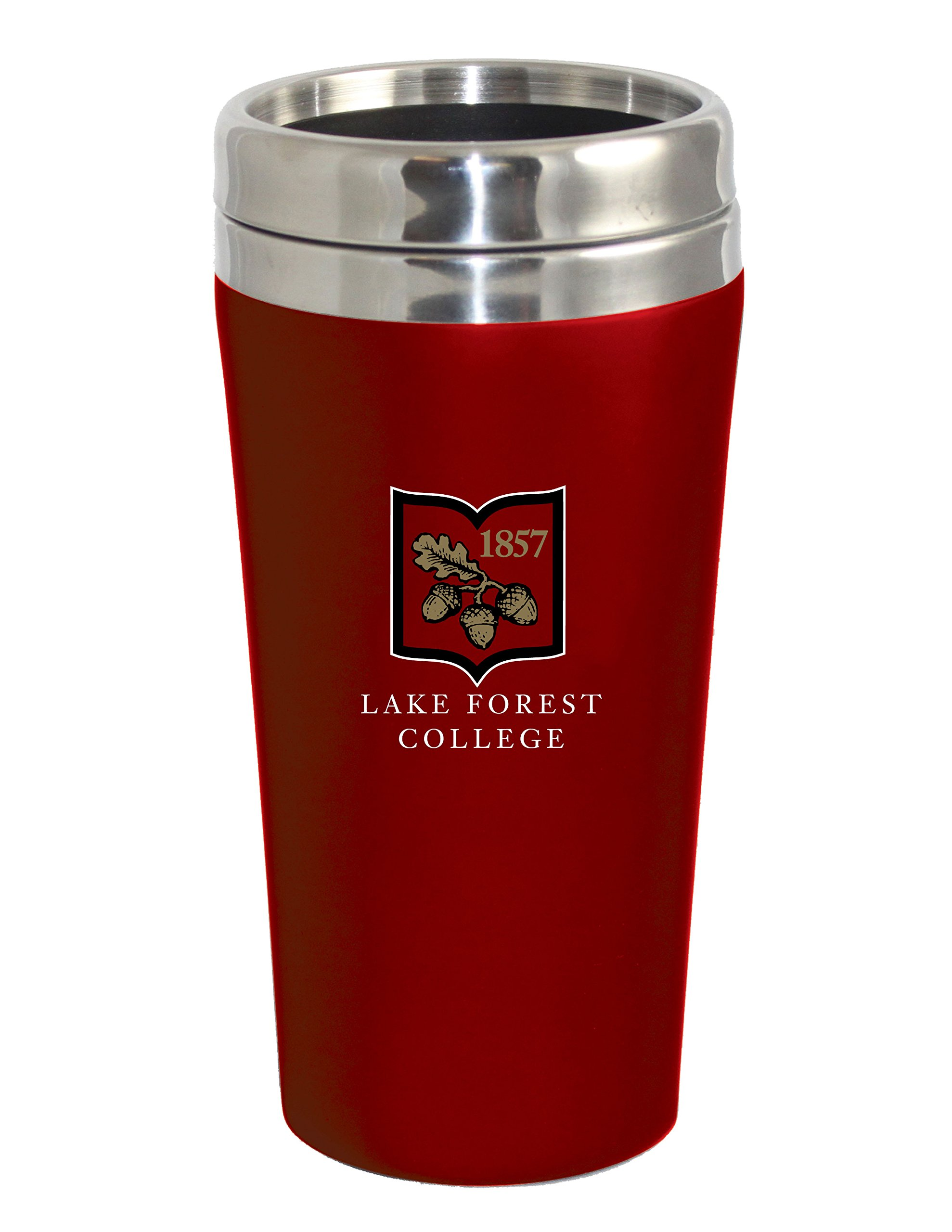Fanatic Group Lake Forest College Double Walled Travel Tumbler, Red - Design 2