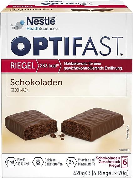 OPTIFAST Konzept Barritas de chocolate para adelgazar | Sustituto de la comida rica en proteínas con vitaminas y minerales importantes | Preparación ...