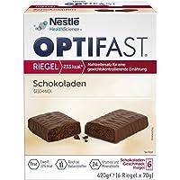 OPTIFAST Barritas Chocolate. Estuche de 6 barritas de 65g cada una, sustitutivas de la comida para control de peso