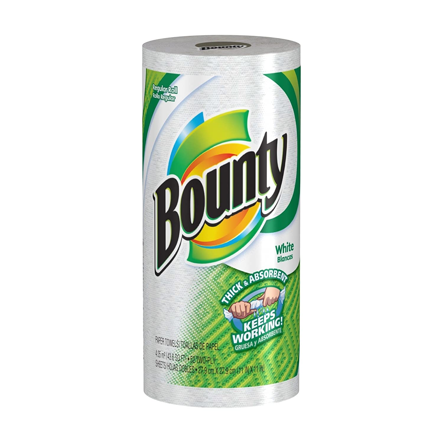 Amazon.com: Bounty Paper Towels, White, Regular Roll (Pack of 30 ...
