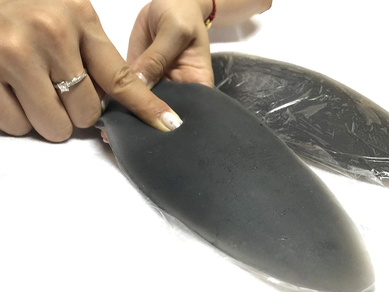 Self-adhesiveCalf Pads for Skinny Leg Women Leg Correctors Silicone Leg Includes a Pair of Elastic Leg Sleeves L, Brown