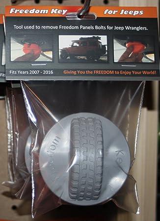 2007-2016 Jeep Wrangler Hardtop Freedom Panel Knob Removal Tool. Black Freedom Key for Jeeps