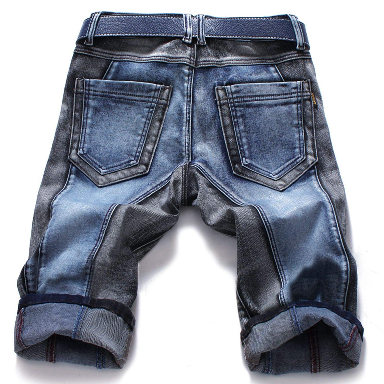 Winter Color Block Mens Jeans Pants Slim Straight Fashion Brands Rock Elastic Jeans for Men