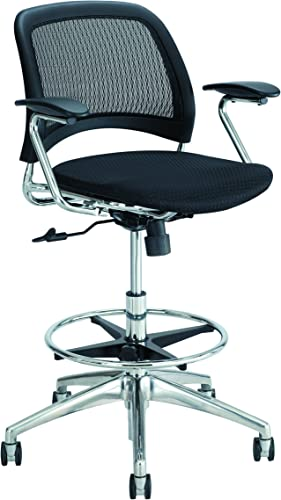 Safco Products Reve Extended Height Mesh Back Task Chair, Black