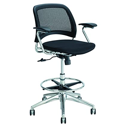 Gentil Safco Products 6820BL Reve Extended Height Mesh Back Task Chair, Black