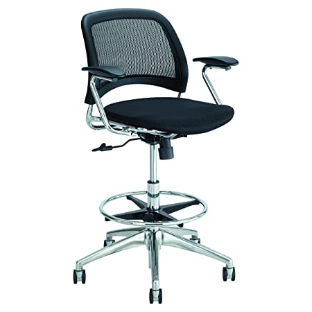 Safco Products 6820BL Reve Extended Height Mesh Back Task Chair, Black