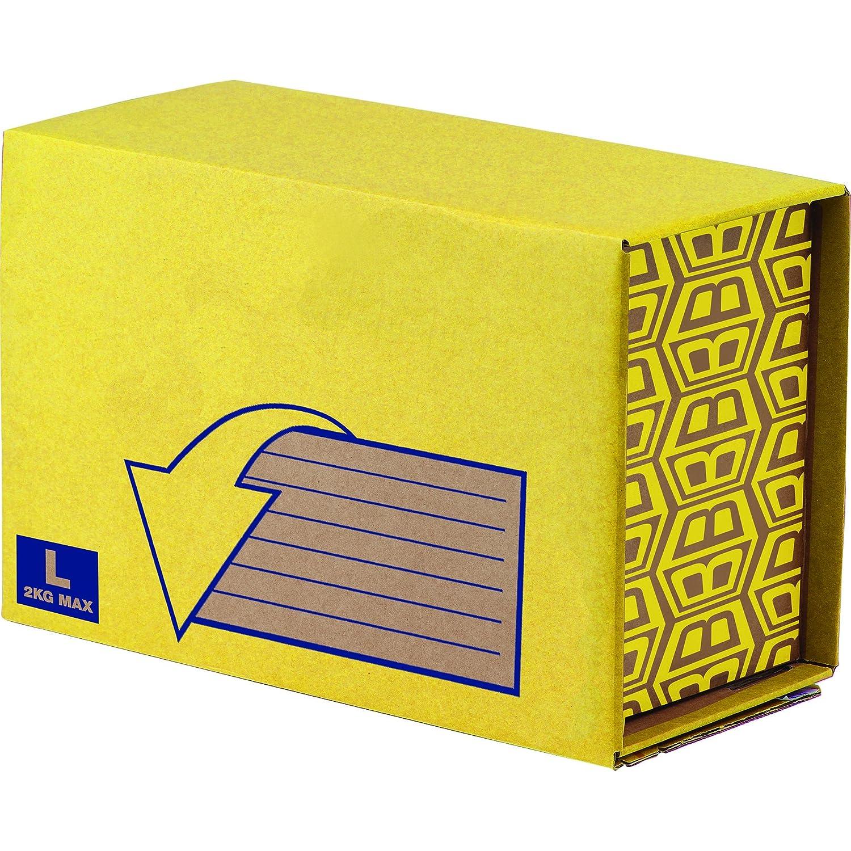 Bankers Box 7274002 Scatola Robusta Spedizioni Missive, Extra Small, Confezione da 10 Pezzi Fellowes
