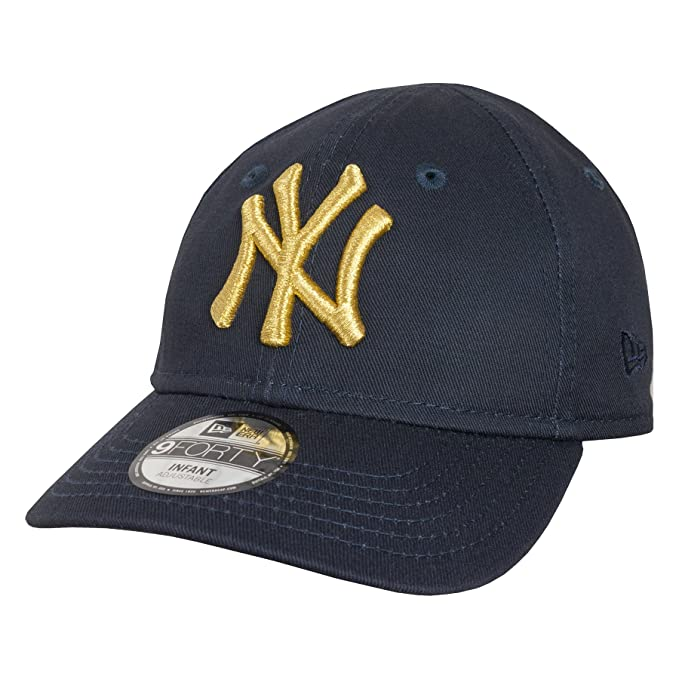 79e64475fd6 New Era Golden 9FORTY Infants New York Yankees Stretch Fit Cap - O S -  Infant  Amazon.co.uk  Clothing
