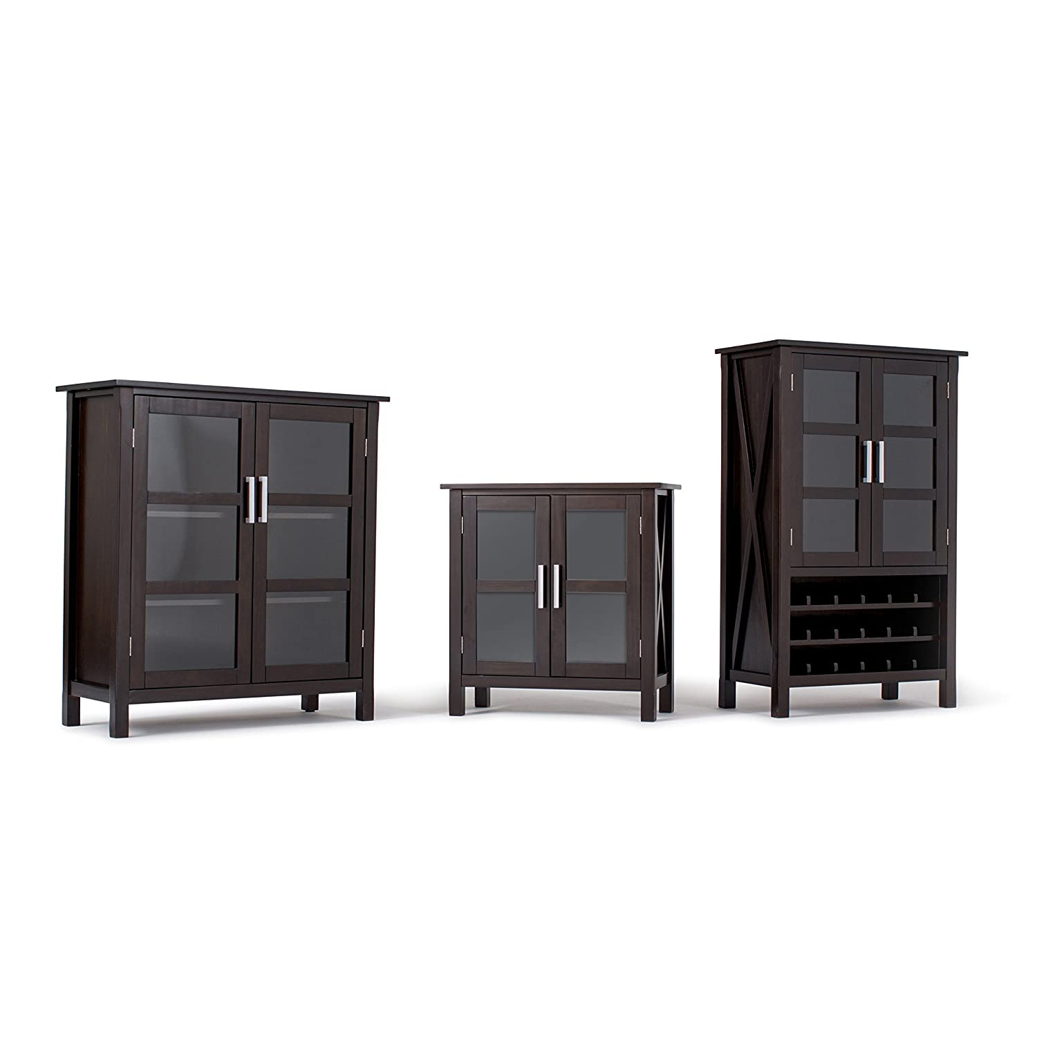 Furniture Warehouse Kitchener Amazoncom Simpli Home Kitchener Storage Cabinet Medium Walnut