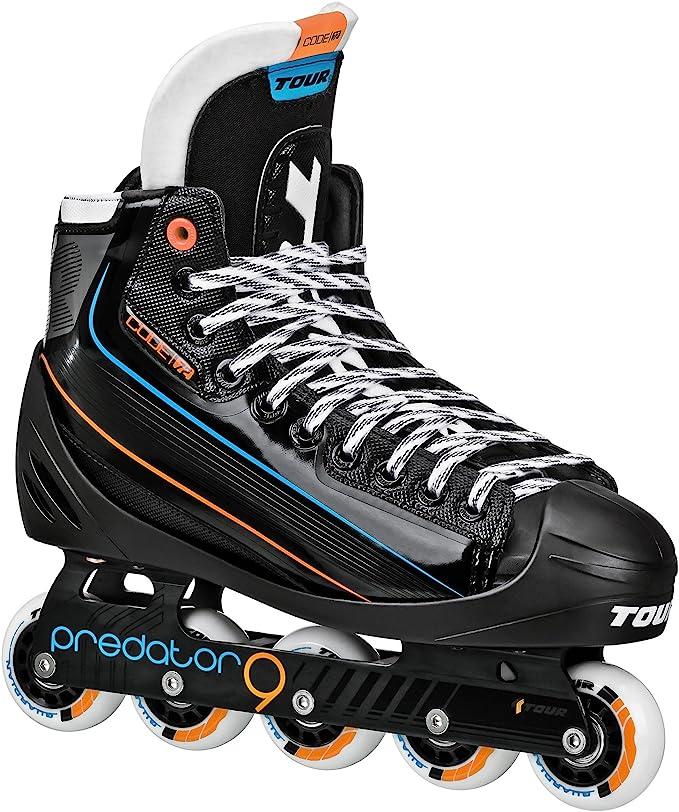 Tour Hockey Code 72 Inline Goalie Skate, Black