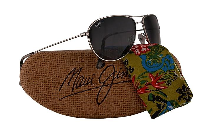 de26f58e2a968 Image Unavailable. Image not available for. Colour  Maui Jim Sea House  Sunglasses Silver w Polarized ...
