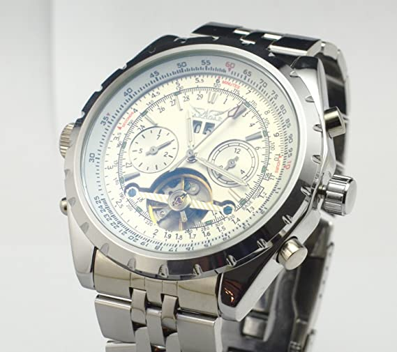 Amazon.com: Jaragar Mens 6 Hands Chronograph Stainless Steel Automatic Mechanical Watch: forsining: Watches