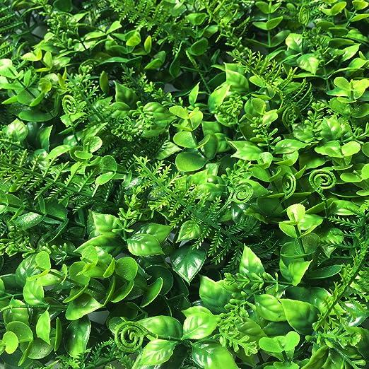 BesameNature - Pack de 6 paneles de planta artificial de alta densidad 3D para vallas de privacidad de jardines verticales y muros vegetales (50 x 50 cm): Amazon.es: Jardín