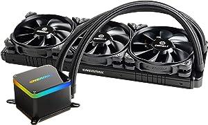 Enermax LIQTECH II 360 Addressable RGB All-in-One CPU Liquid Cooler Dual Chamber Intel/AMD Support AIO ARGB LED Cooling 500+ TDP Black (ELC-LTTO360-TBP)
