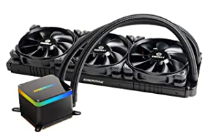 Enermax LIQTECH II 360 Addressable RGB All-in-One CPU Liquid Cooler Dual Chamber Intel/AMD Support AIO ARGB LED Cooling 500+ TDP Black (ELC-LTTO360-TBP)