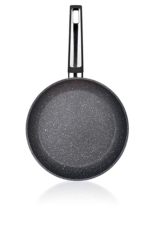 Tescoma i-Premium Stone Sartén, diseño Piedra, 26 cm, Negro