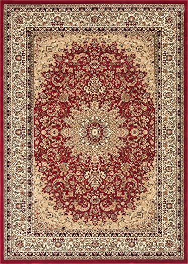 Traditional Area Rug Design Elegance 205 8 Feet X 10 Feet 6 Inch, Red