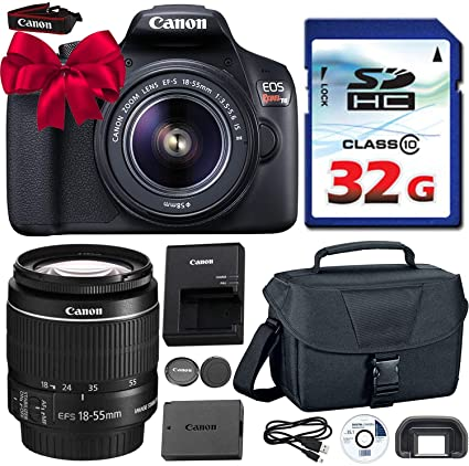 Canon EOS Rebel T6 DSLR 18mp WiFi Enabled + EF-S 18-55mm IS [Image  Stabilizer] II Zoom Lens + Canon Professional Gadget Bag + Commander 32GB  Class 10