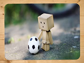 Bot Robot Football PU Faux Leather Mouse Mat PC Mouse