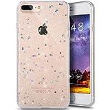 "iPhone 8 Plus Case,iPhone 7 Plus Bling Glitter TPU Case,PHEZEN Shiny Sparkling Glitter Hexagonal Star Flexible Soft Rubber Gel Clear TPU Cases Silicone Back Case for iPhone 8 Plus /iPhone 7 Plus 5.5"""