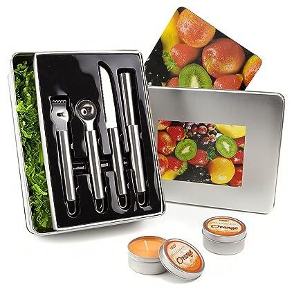 Set de regalo vitaminas XXL – con el cortador de fruta de 4 piezas Juego de