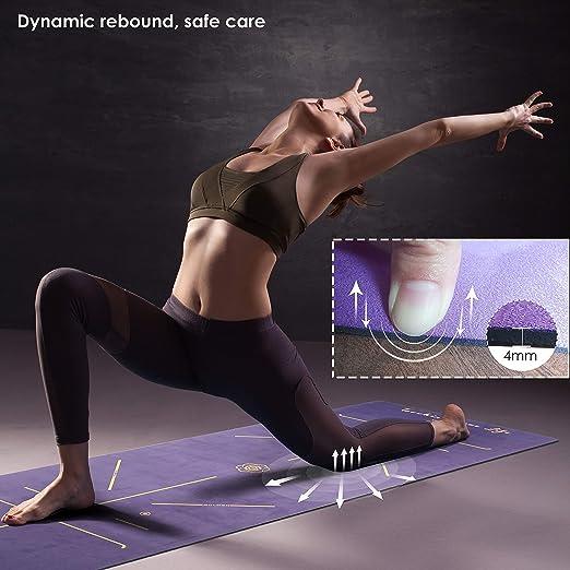 Tapis de fitness Pro double couleur pour gym /épais et non toxique pour femme et homme pilates sport Yoga mat de voyage /écologique Tapis de yoga antid/érapant avec sangle de transport