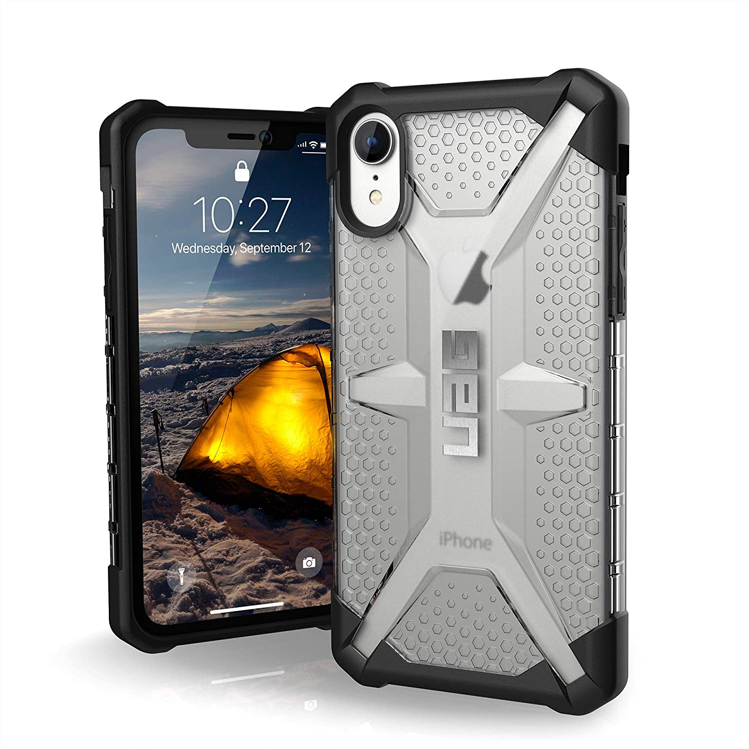 URBAN ARMOR GEAR UAG iPhone XR [6.1-inch Screen] Plasma Feather-Light Rugged [Ice] Military Drop Tested iPhone Case