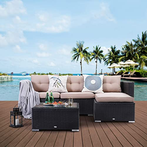 PHI VILLA Outdoor Sectional Rattan Sofa