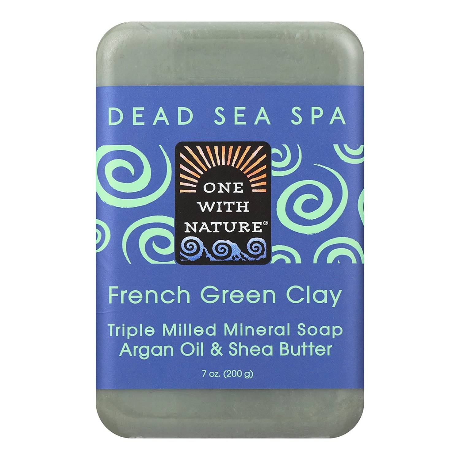 One with Nature French Clay Soap - French Green - Case of 6-7 oz.