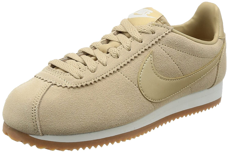 Nike Wmns Classic Cortez Suede AA3839001, Deportivas 38.5 EU|Beige