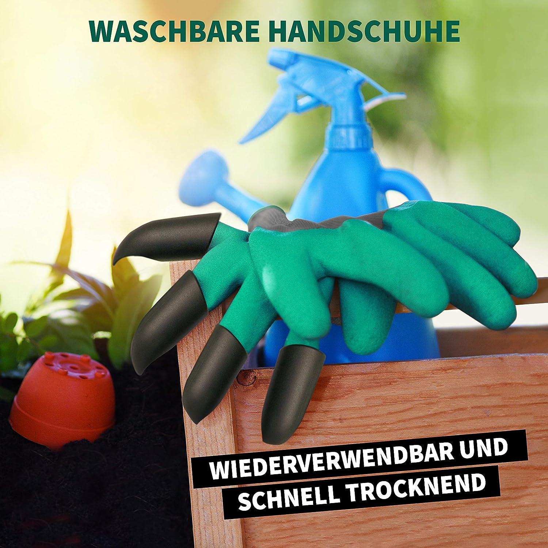 Pflanzen Gartenhandschuhe mit Krallen Graben Einheitsgr/ö/ße Handschuhe Gartenarbeit 1 Paar Wasserdicht KVOTA Harken Arbeitshandschuhe