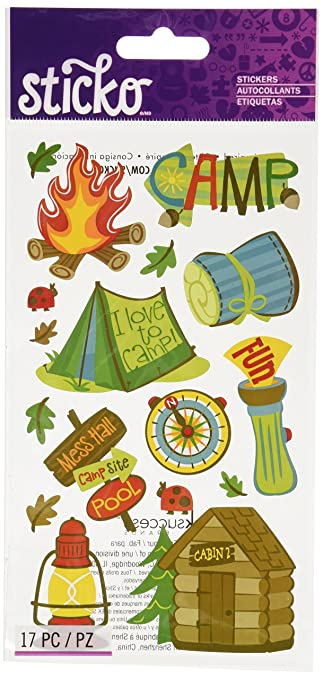Sticko Camping Fun Stickers