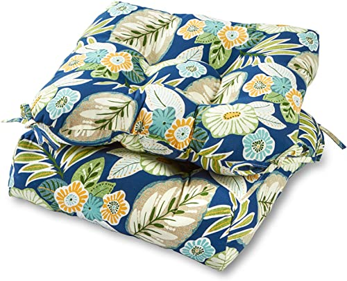 Greendale Home Fashions AZ6800S2-MARLOW Magnolia Floral Outdoor Dining Seat Cushion Set of 2