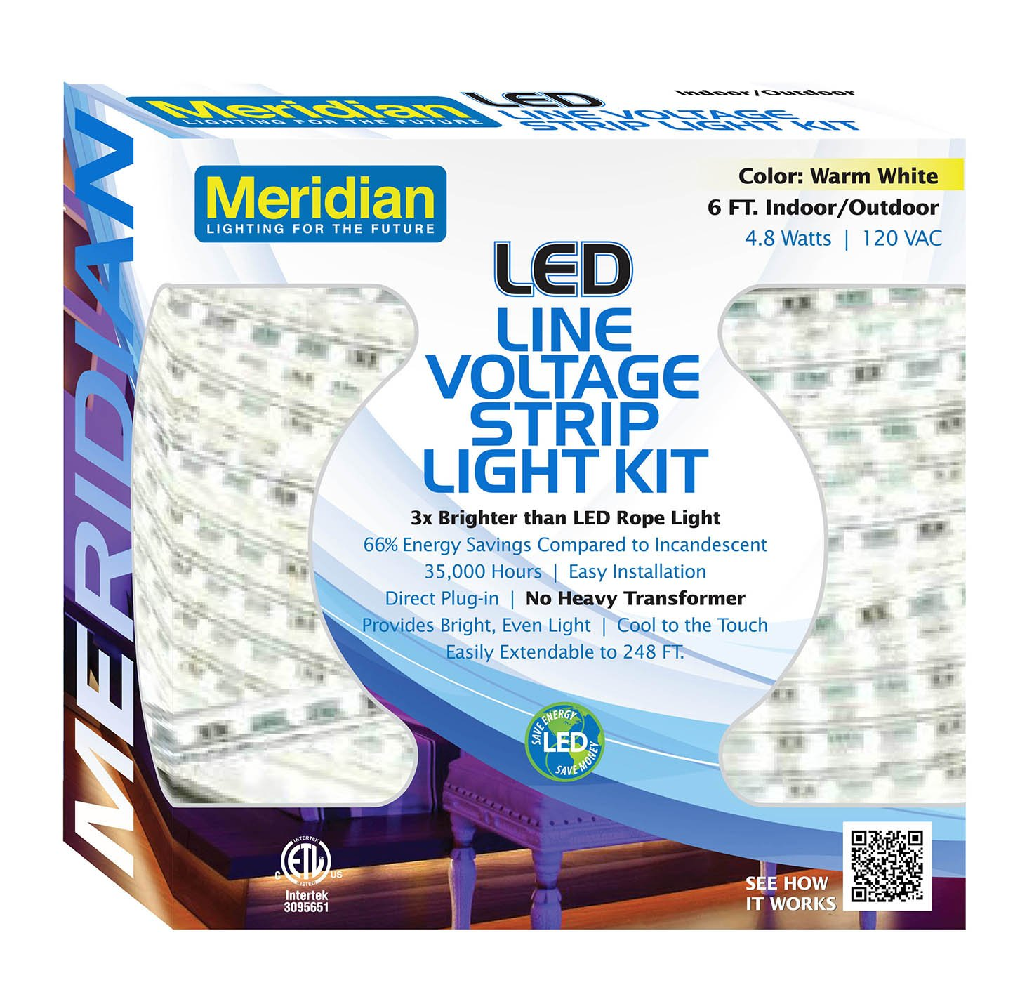 Amazon meridian electric 37001 6 led strip light warm white amazon meridian electric 37001 6 led strip light warm white home improvement aloadofball Images
