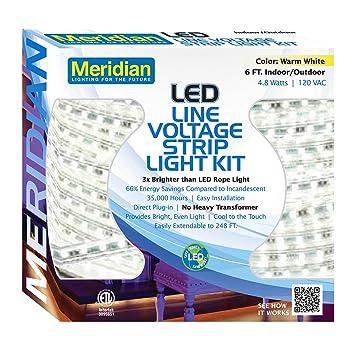 Amazon meridian electric 37001 6 led strip light warm white meridian electric 37001 6 led strip light warm white aloadofball Gallery
