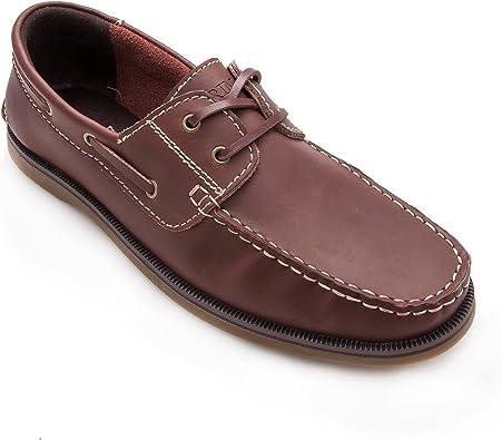 Zerimar Chaussures Bateau en Cuir pour Homme | Chaussures pour Homme