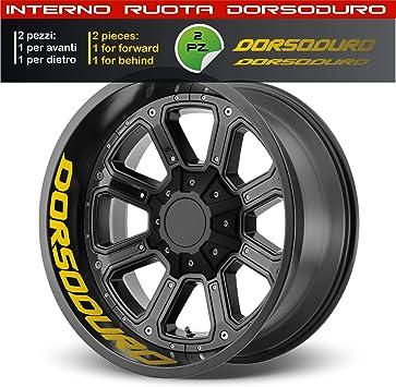 021 Giallo 0277 Aprilia Dorsoduro adesivi ruote interno strisce cerchi decalcomanie strip cerchioni Cod