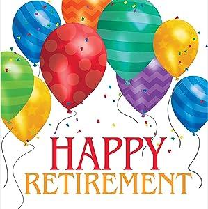 Creative Converting Napkins, One size, Happy Retirement
