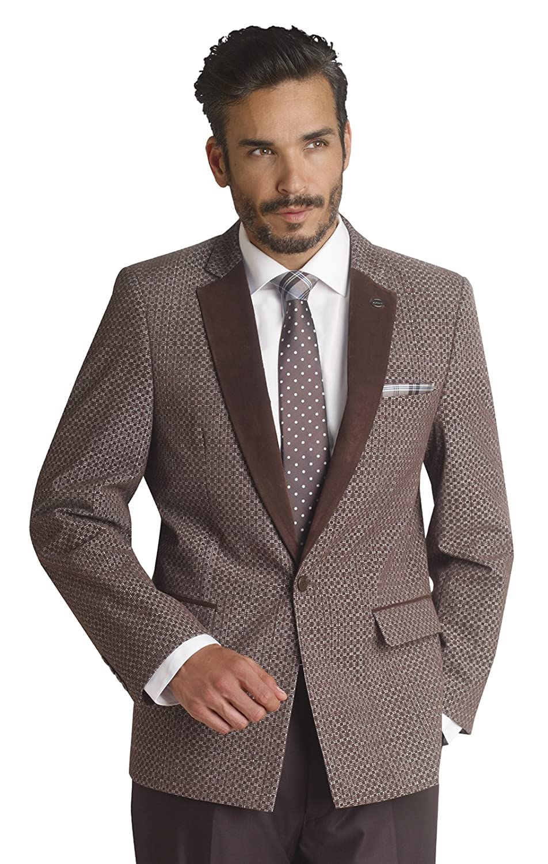 1950sStyleMensClothing EJ Samuel Fashion Brown Mens 2 Piece Suit HYL19  AT vintagedancer.com