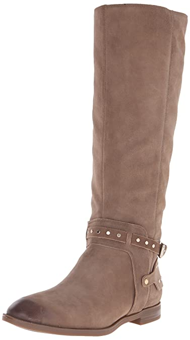 Nine West Women's Luciana Suede Motorcycle Boot, Taupe, ...