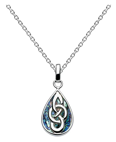 Heritage Sterling Silver Celtic Heart Necklace of Length 45.7 cm 7ZIcsvoZKZ