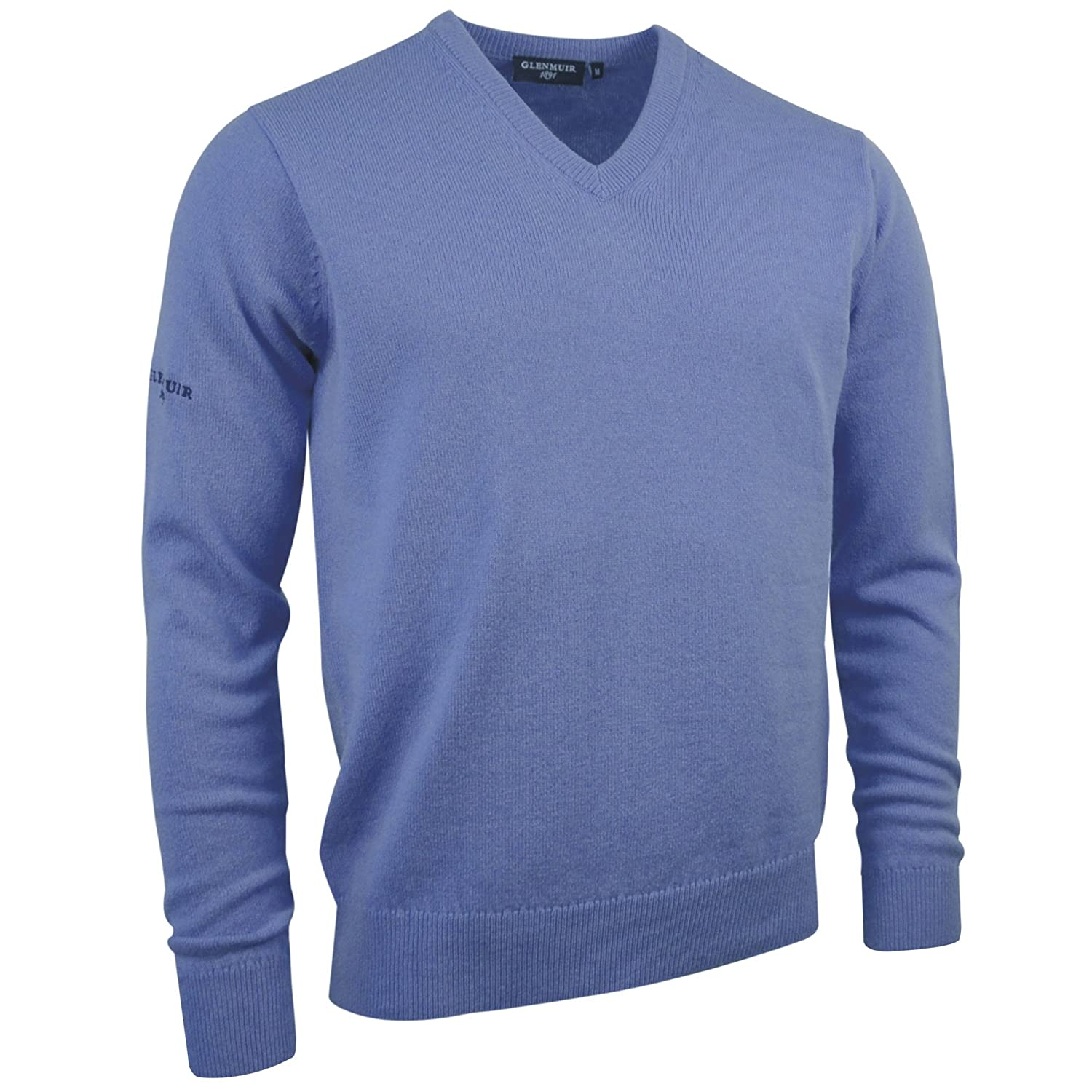 Glenmuir Lomond V-Neck Lambswool Sweater / Knitwear at Amazon ...