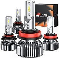 $50 » Nilight 9005 H11 LED Headlight Bulbs Kit, 350% Brightness, 100W 20,000 Lumens HB3…