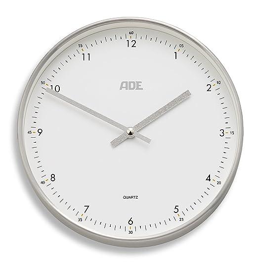 3 opinioni per ADE analogico orologio da parete radiocontrollato CK, bianco / argento, 25.0 x