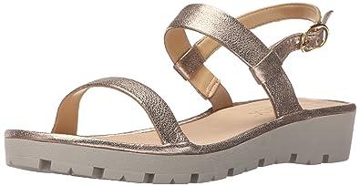 The FLEXX Women's Sun Tan Gold Tris Sandal 5.5 M