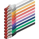 1aTTack Câble SSTP-RJ45 double blindage Multicolore Multicolor - 10 unidades 1 mètre