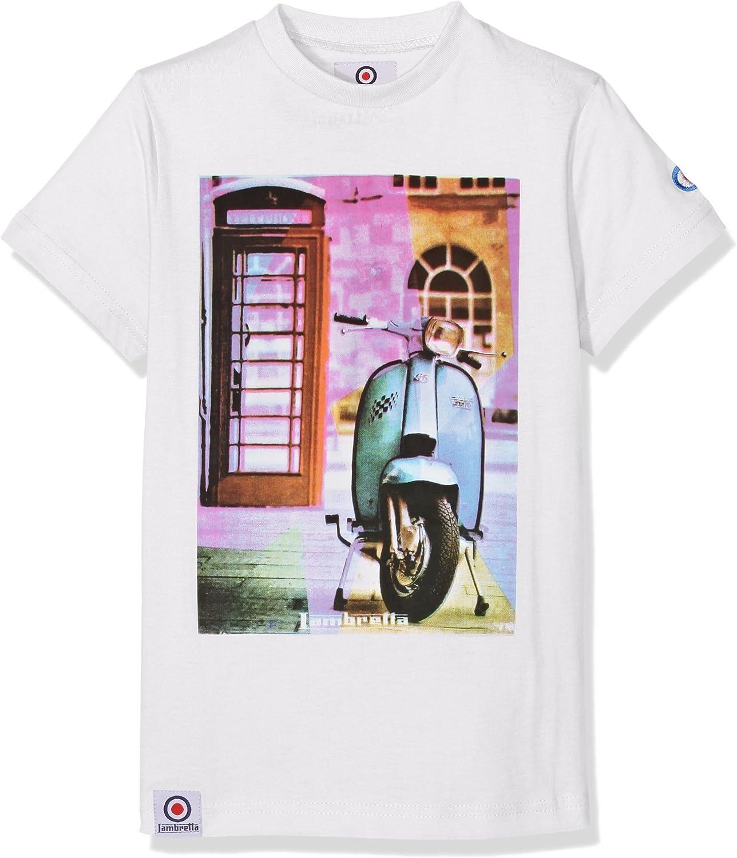 Lambretta Performance tee Camiseta, Blanco (White), 12-13 Años para Niños: Amazon.es: Ropa y accesorios